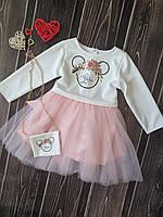 Платье для маленьких модниц с фатиновой юбкой (1405/6)