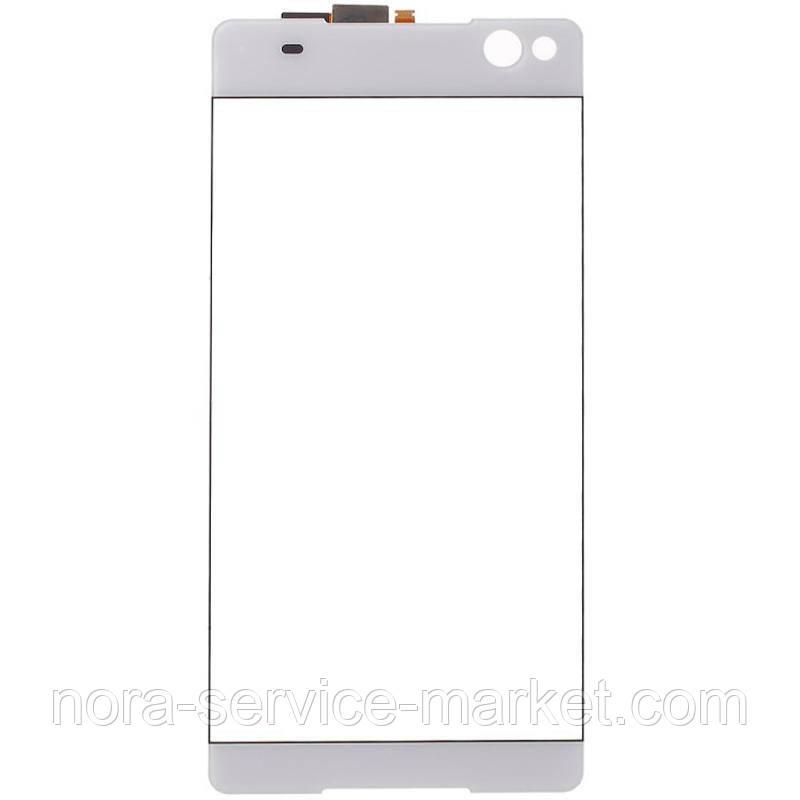 Скло дисплея Sony Xperia C5 White