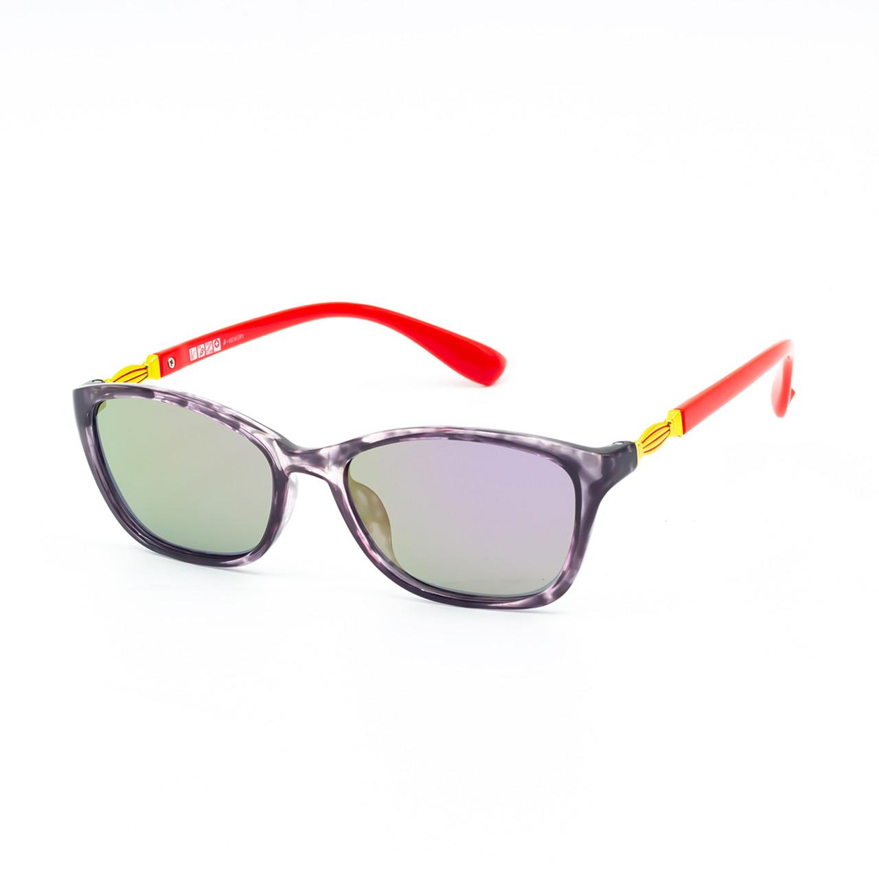 Солнцезащитные очки Marmilen 1297 C4 красно фиолетовые с зеркальным покрытием   ( 1297-04 )
