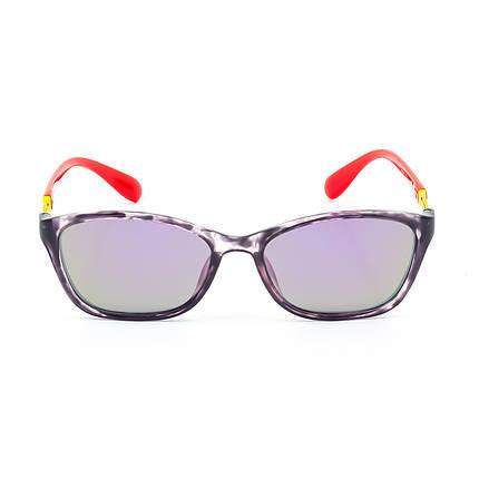 Солнцезащитные очки Marmilen 1297 C4 красно фиолетовые с зеркальным покрытием   ( 1297-04 ), фото 2