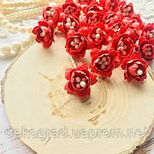 Цветы Сливы 25мм Красный с тычинками