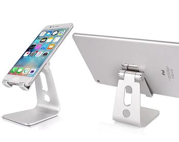 Металлическая складная подставка Primo SP02 для телефона, планшета - Silver