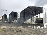 Шатер 6х16 метров ПВХ 600г/м2 с мощным каркасом под склад, гараж, палатка, ангар, намет, павильон садовый, фото 3