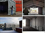 Шатер 8х20 метров ПВХ 600г/м2 с мощным каркасом под склад, гараж, палатка, ангар, намет, павильон садовый, фото 5