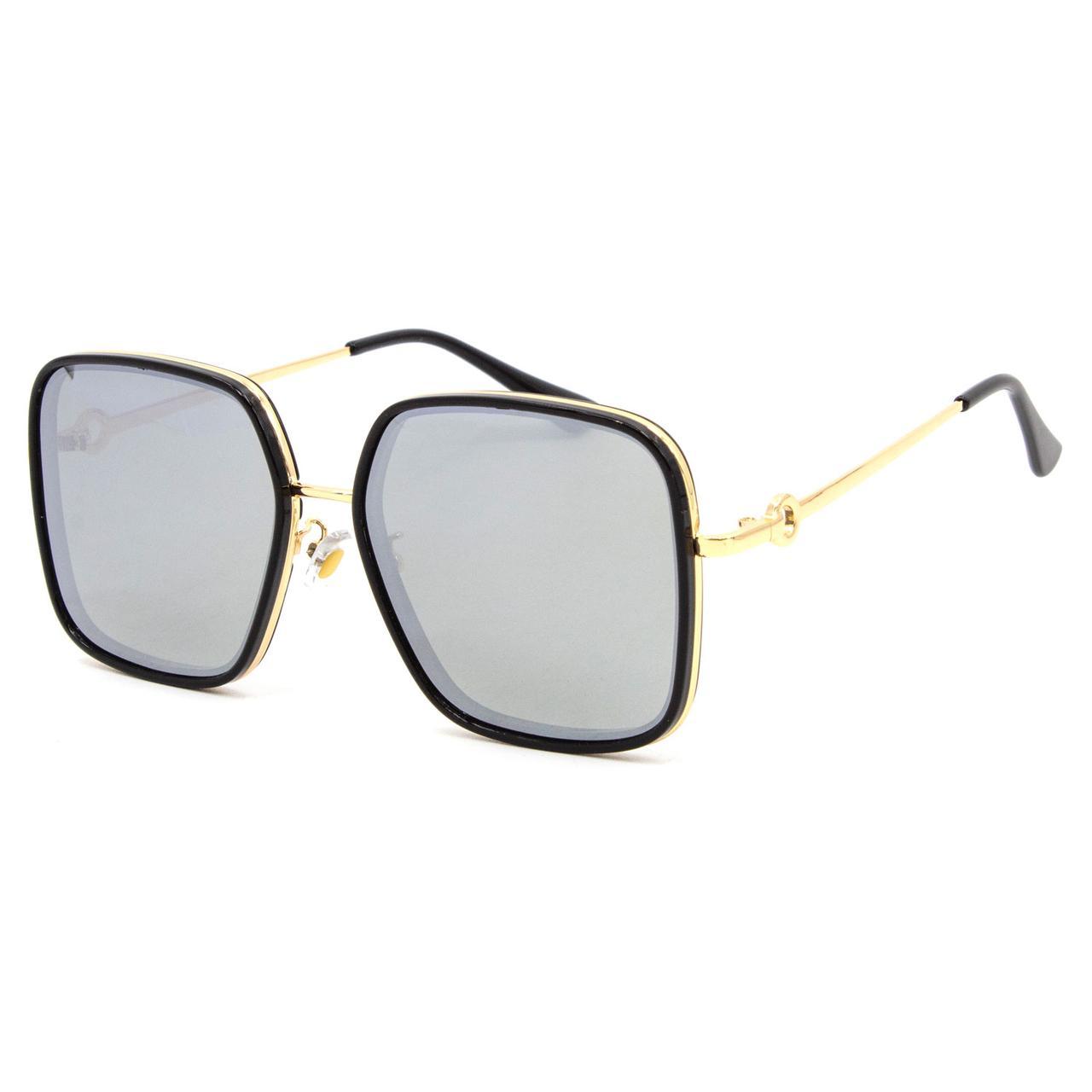 Солнцезащитные очки Marmilen Polar 3236 C3 черные с зеркальным покрытием   ( 3236-03 )