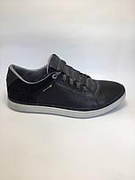 Туфли мужские комфортные,кожаные MAXUS синие