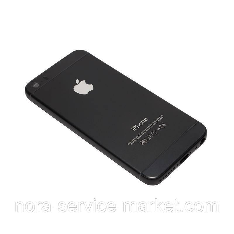 Корпус Full (крышка+рамка) iPhone 5S Black HC