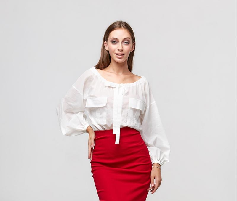 Белая женская блуза ORA 20043/1 лето