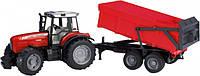 Bruder Игрушка машинка трактор Massey Ferguson 7480 c прицепом, 02045