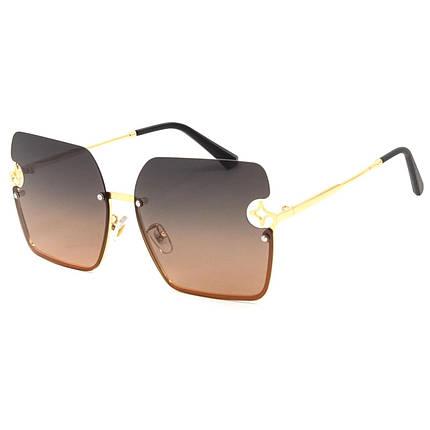 Солнцезащитные очки Marmilen Polar 6380 C2 золотые с коричневым   ( 6380-02 ), фото 2