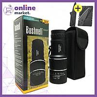 Мощный компактный монокуляр Bushnell 16х52 с двойной фокусировкой + Раскладной нож в Подарок
