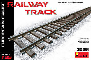 Железнодорожные рельсы (европейская колея). 1/35 MINIART 35561