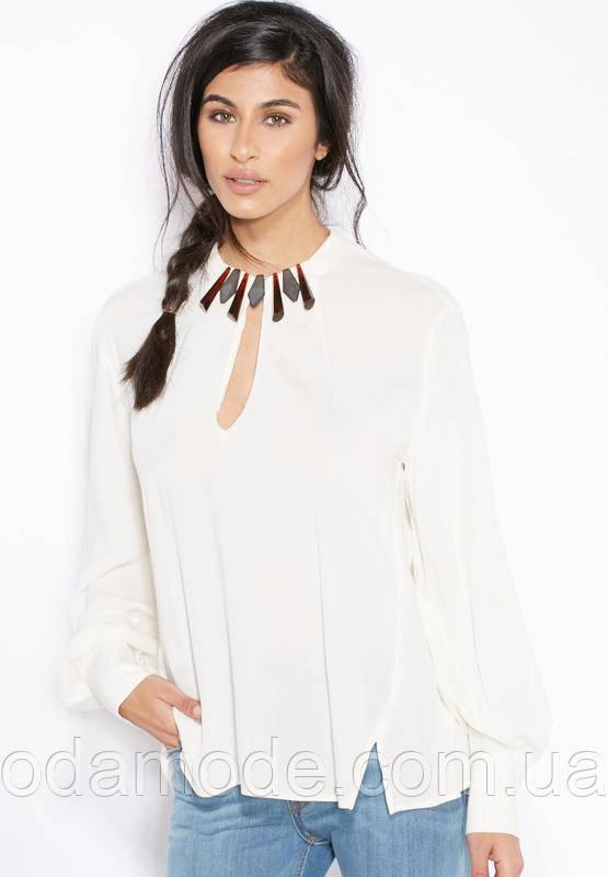 Блуза женская  белая с кристаллами Mango