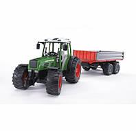 Bruder Игрушка машинка трактор Fendt 209 S с прицепом, 02104
