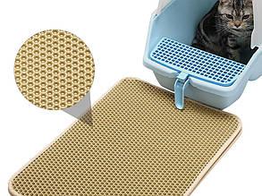 Коврик для кошек EVA беж/сота 330х300х10 мм, фото 2