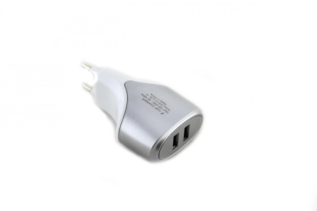 Зарядное устройство 220В USBx2 mod-007
