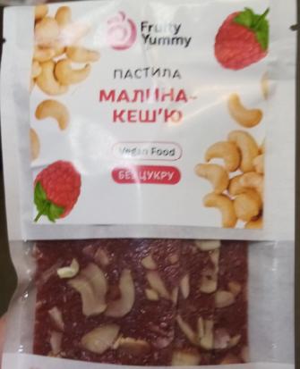 "Пастила FruityYummy ""Малина-кешью"", 40 г"