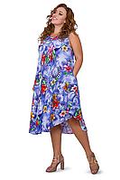 Красивое легкое  ,воздушное летнее платье из штапеля