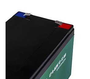Тяговый аккумулятор AGM LogicPower LP 6-DZM-12 (12В, 12Ач), клемма F2, фото 2