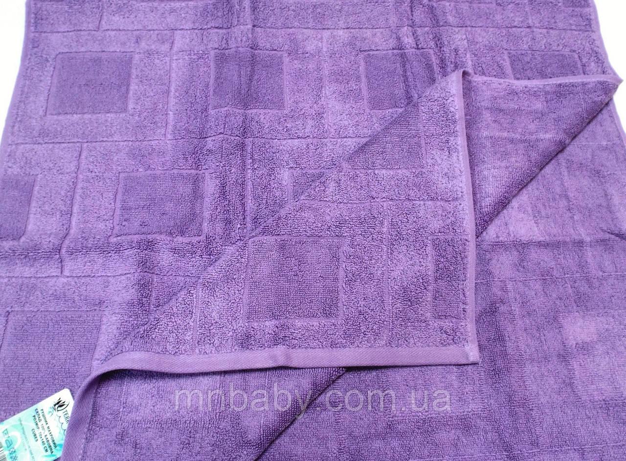 Полотенце махровое 70*140 см фиолет
