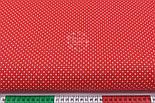 Бязь с белыми точками 2 мм на красном фоне (№ 138)., фото 2