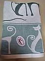 Полотенце хлопковое 70*140 см Зеленый кот, фото 3