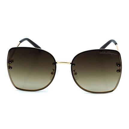 Сонцезахисні окуляри Salvatore Ferragamo R5066 C2 золоті з коричневим градієнтом ( R5066-02 ), фото 2