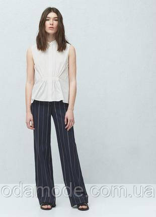 Женская блуза белая без рукава Mango