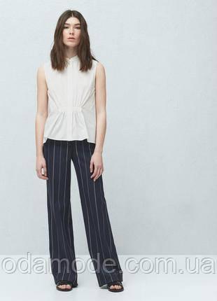 Жіноча блуза біла без рукава Mango