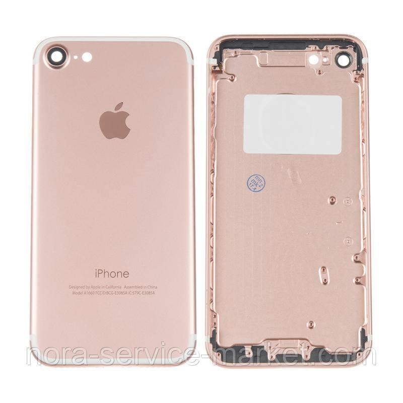 Корпус Full (крышка+рамка) iPhone 7 Rose Gold Original