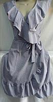 """Плаття на запах в дрібний """"горошок"""" жіноче (ПОШТУЧНО)"""