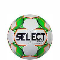 Мяч футзальный Select Futsal Talento 9, бело-зелено-оранжевый, ламинированный