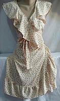 Платье на запах в горошек женское (ПОШТУЧНО)