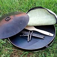 Сковорода из диска бороны 50см + крышка, сковорода для пикника рыбалки или отдыху на природе и даче