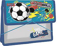 """Папка для тетрадей 1Вересня пласт. на резинке В5 """"Team football"""" , код: 491850"""