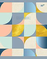 Тетрадь школьная А5/24 кл. YES мат. ламинация+фольга синяя+УФ-выб. Abstract, тетрадь , код: 763251