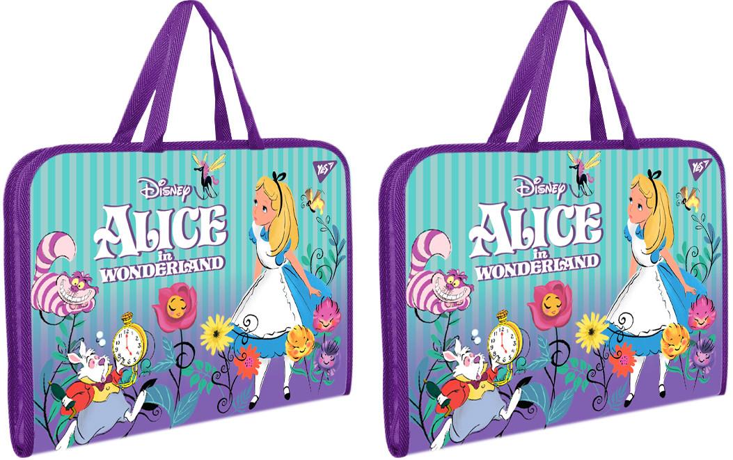 """Папка-портфель YES на молнии с тканевыми ручками """"Alice"""" , код: 491818"""