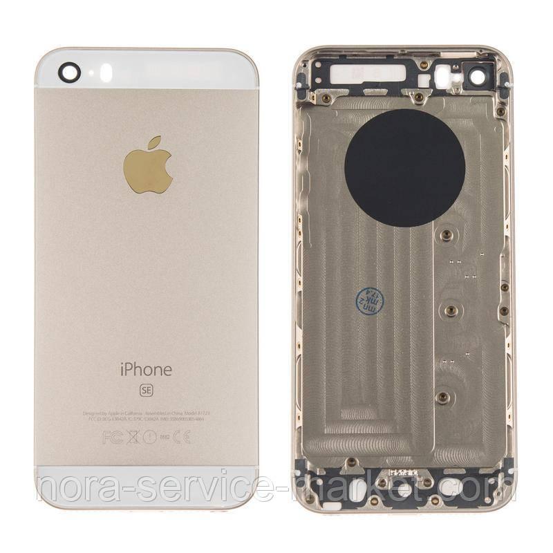 Корпус Full (крышка+рамка) iPhone SE Gold HC