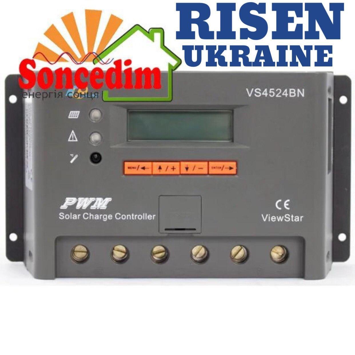 Контроллер ШИМ 45А 12/24В с дисплеем (VS4524BN) EPsolar(EPEVER)