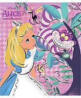 "Тетрадь школьная А5/48 лин. YES ""Alice in wonderland"" фольга золото+софт-тач , набор 5 шт., код: 763290, фото 2"