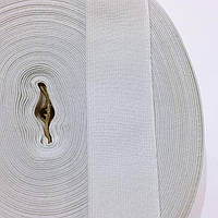 Резинка тканная мягкая 035мм цв.белый (уп 25м)