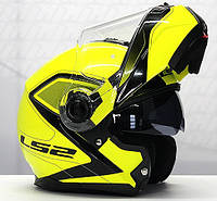 Мотошлем LS2 FF325 STROBE   CIVIK   Yellow Black, фото 1