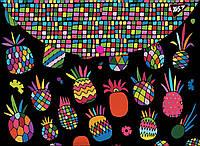 """Папка-конверт YES на кнопке А4 """"Black pineapple"""" , код: 491660"""