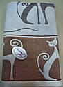 Полотенце хлопковое 70*140 см Рыжий кот, фото 3