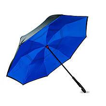 Ветрозащитный двойной зонт, синий