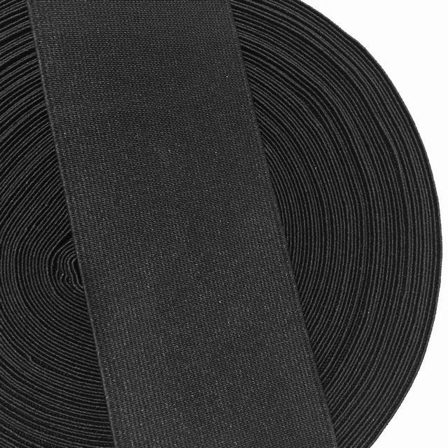 Резинка тканая 060мм цв черный (уп 25м) 3042 Укр-з