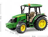 Bruder Игрушка машинка трактор John Deere 5115M, 02106, фото 2