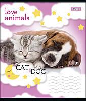 Тетрадь школьная А5/12 лин. 1В LOVE ANIMALS, набор 25 шт., код: 764471, фото 5
