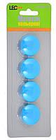 Магниты для досок 4шт/уп L2734-19 неон бирюзовый , код: 730018
