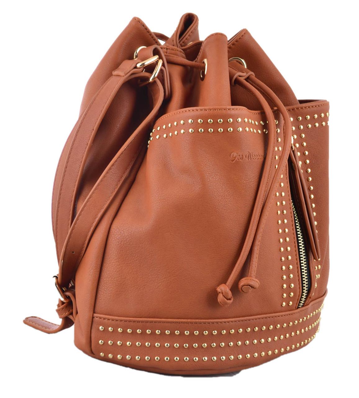 Сумка- рюкзак YES, рыжий, 30*27*15.5 , код: 554154